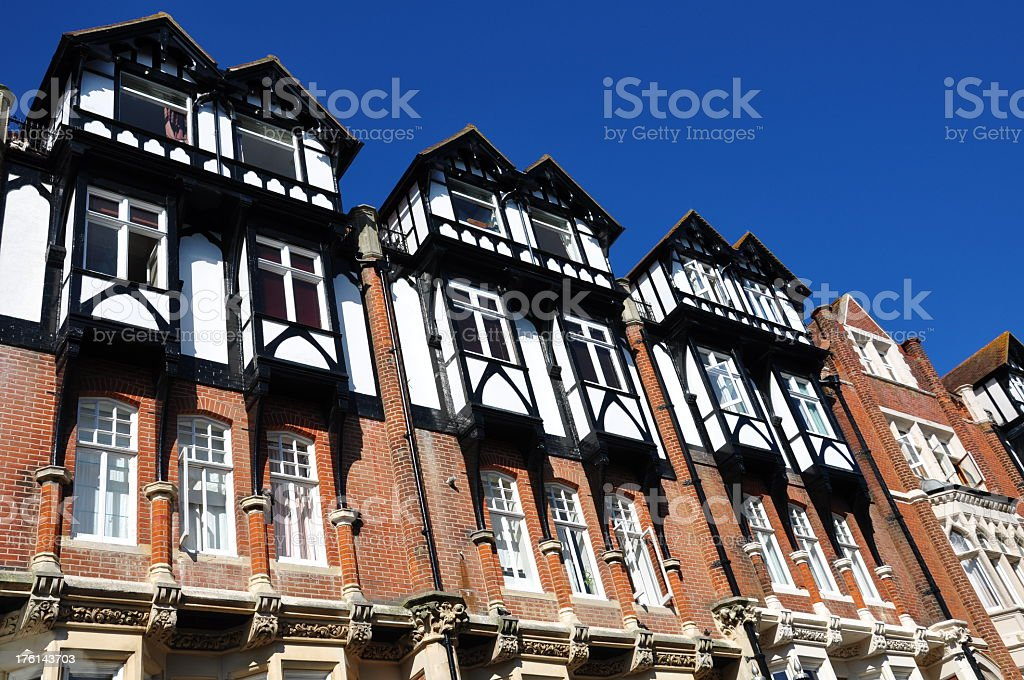 Mock Tudor Town Houses royalty-free stock photo
