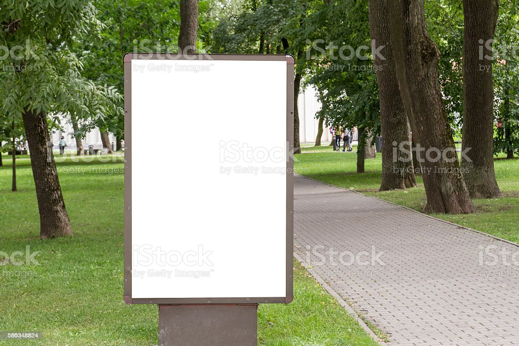 Mock up. Blank billboard with copy space for your text stock photo
