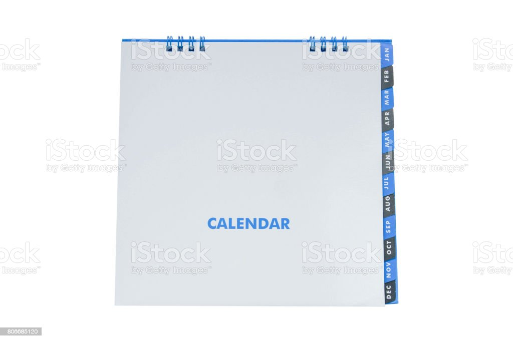 Mock up Calendar  - isolated on white screen stock photo