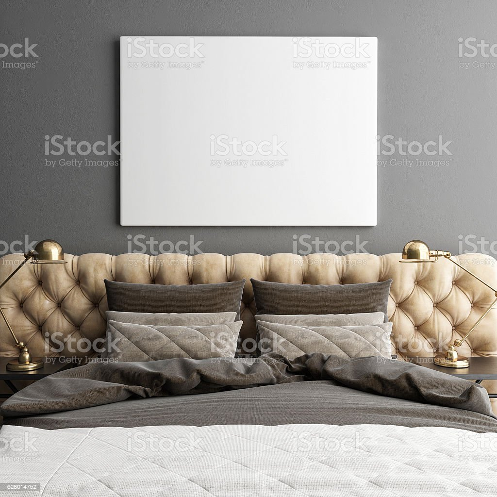 Mock ups of one bedroom two bedroom and three bedroom apartments - Mock Up Poster Close Up Hipster Bedroom Royalty Free Stock Photo