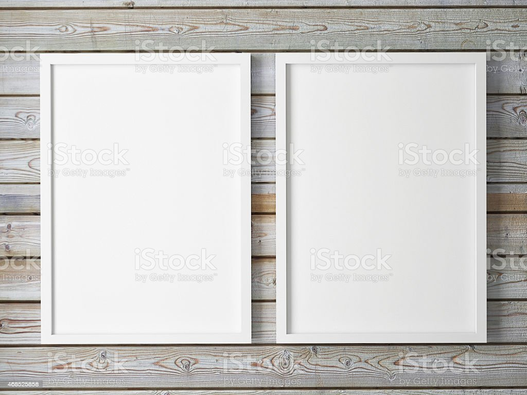 mock up posters, 3d illustration stock photo