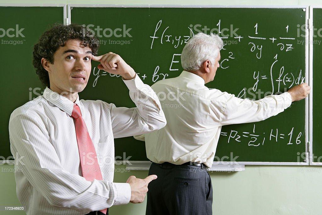 Mocking a professor stock photo
