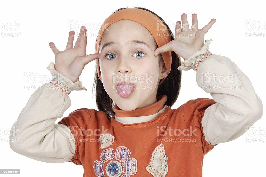Mocking girl stock photo