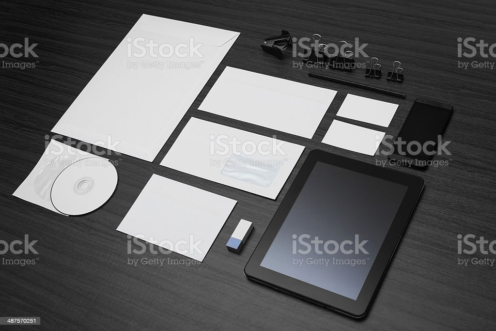 Mockup business template. stock photo