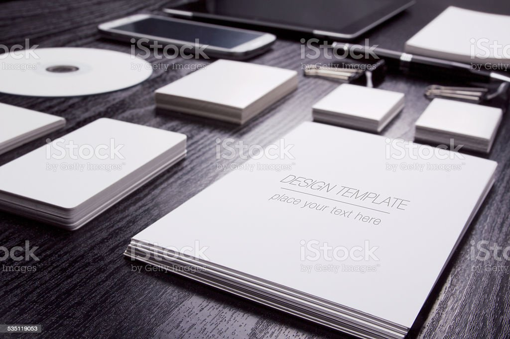 Mockup business template stock photo