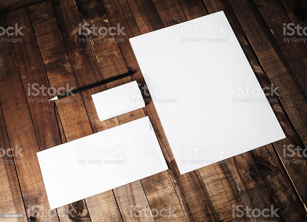 Mock-up for branding identity stock photo