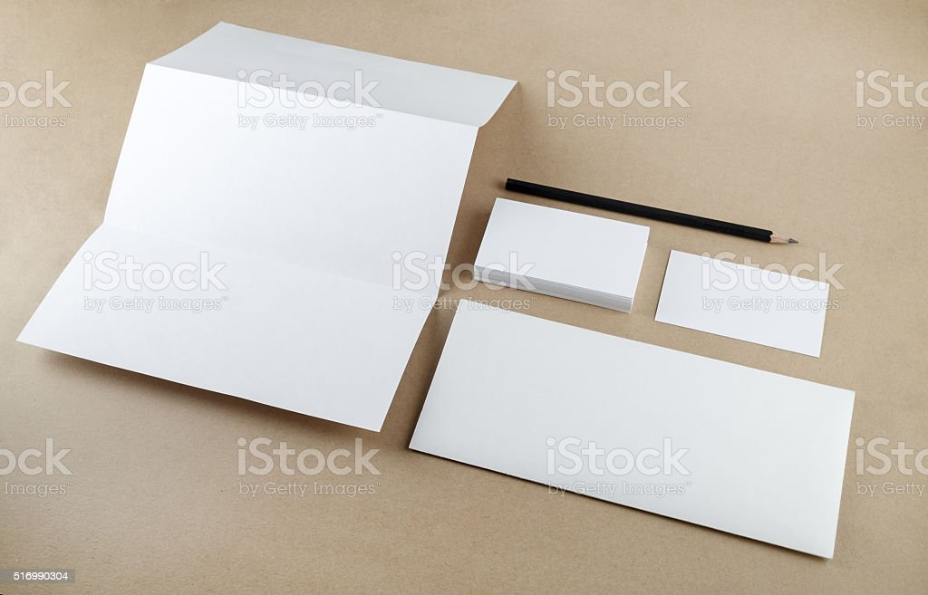 Mockup for ID stock photo