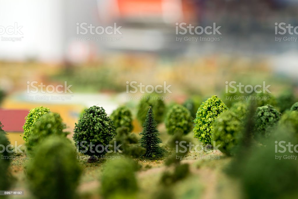 mock-up of trees stock photo
