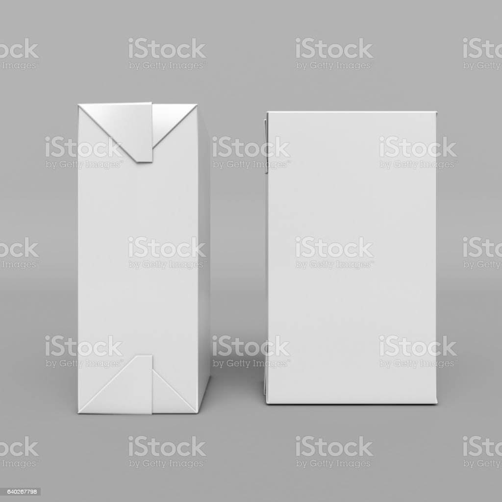 Mock-up packages. Juice and milk. 3D illustration stock photo
