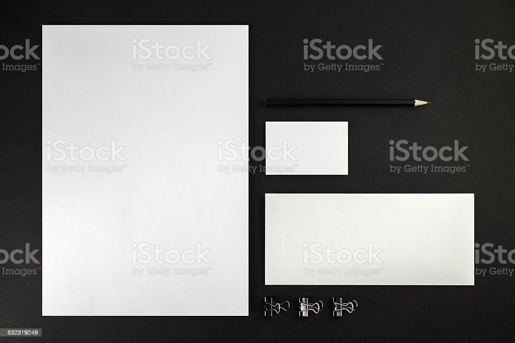 ID mock-up stock photo