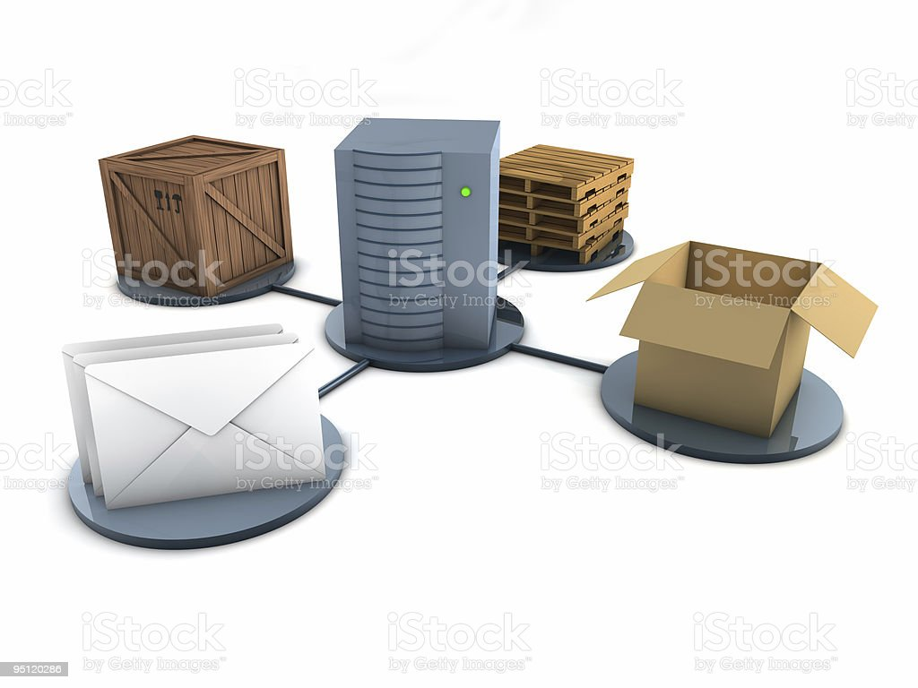 Mode of delivery concept (Isolated) royalty-free stock photo