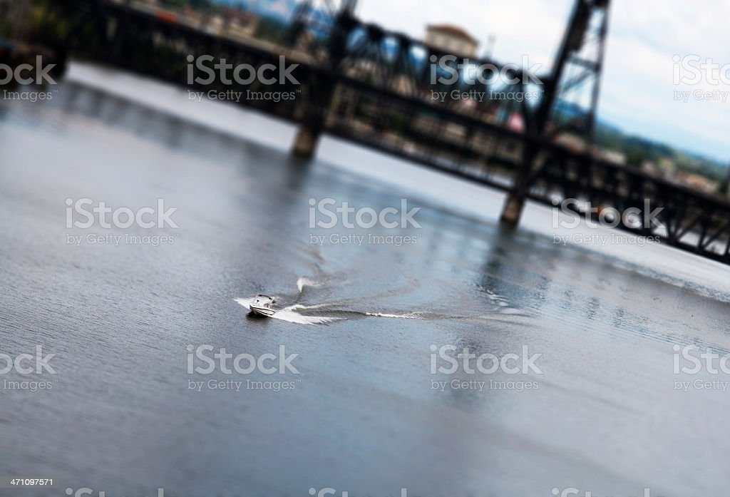 Model Boat, Portland Oregon stock photo