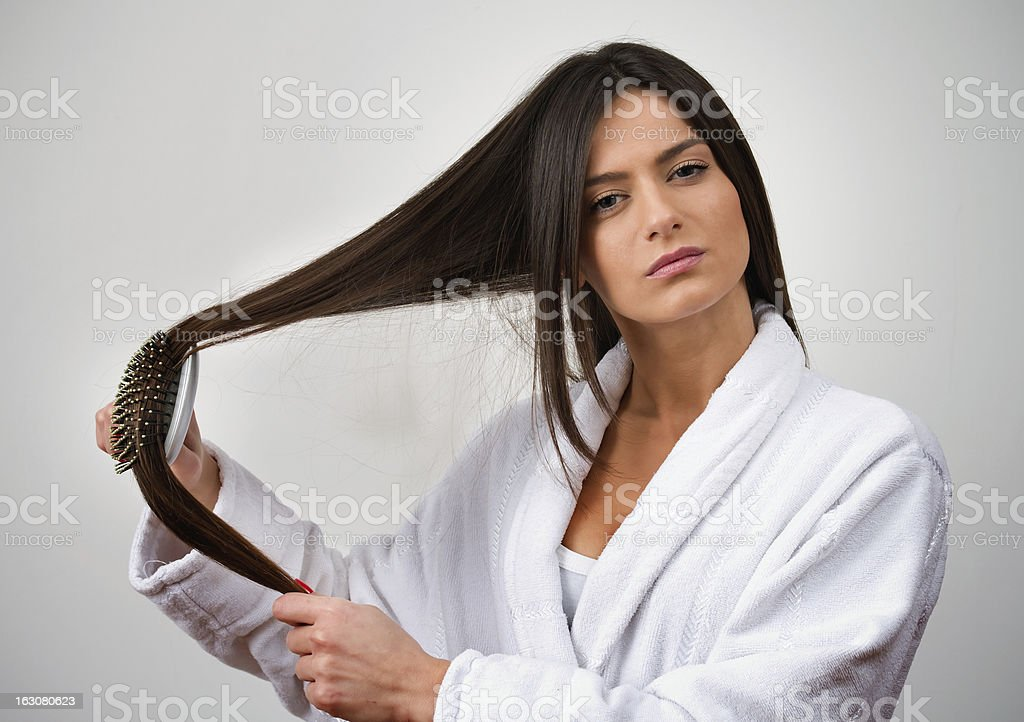 Model Combing royalty-free stock photo