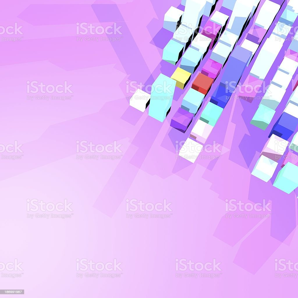 3D model cube background royalty-free stock photo