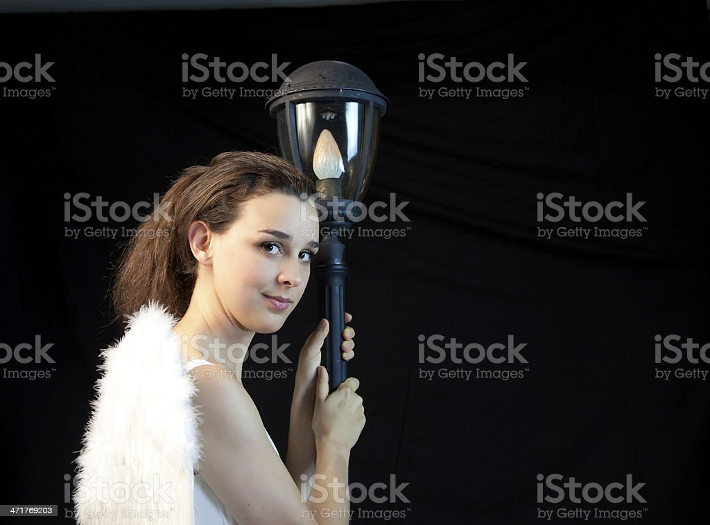 Model Dressed As An Angel royalty-free stock photo