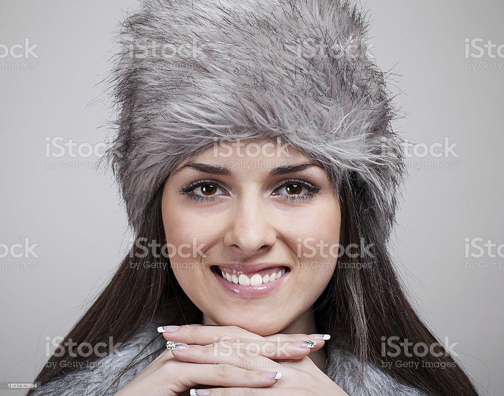 Modelo vestido de piel foto de stock libre de derechos