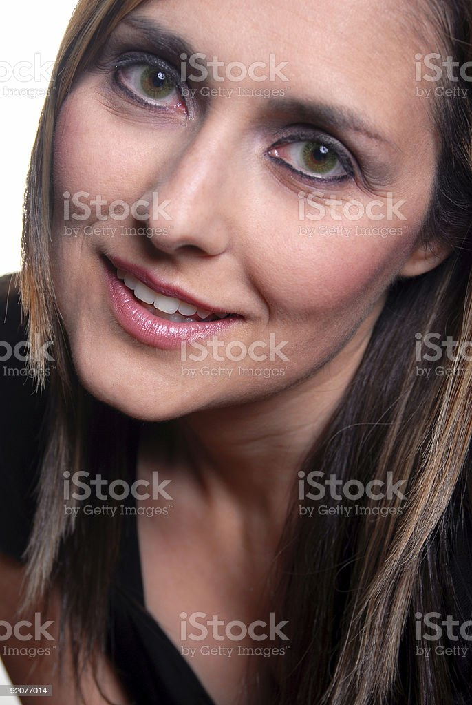 Model Face stock photo