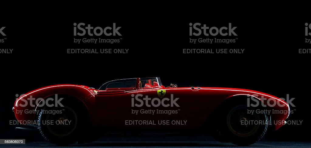 Model Ferrari 375 Plus Low Key stock photo