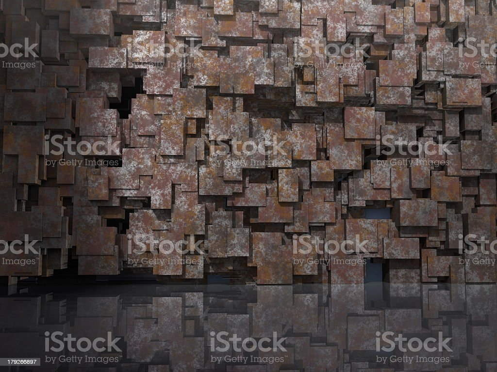 3D model for architectural background royalty-free stock photo