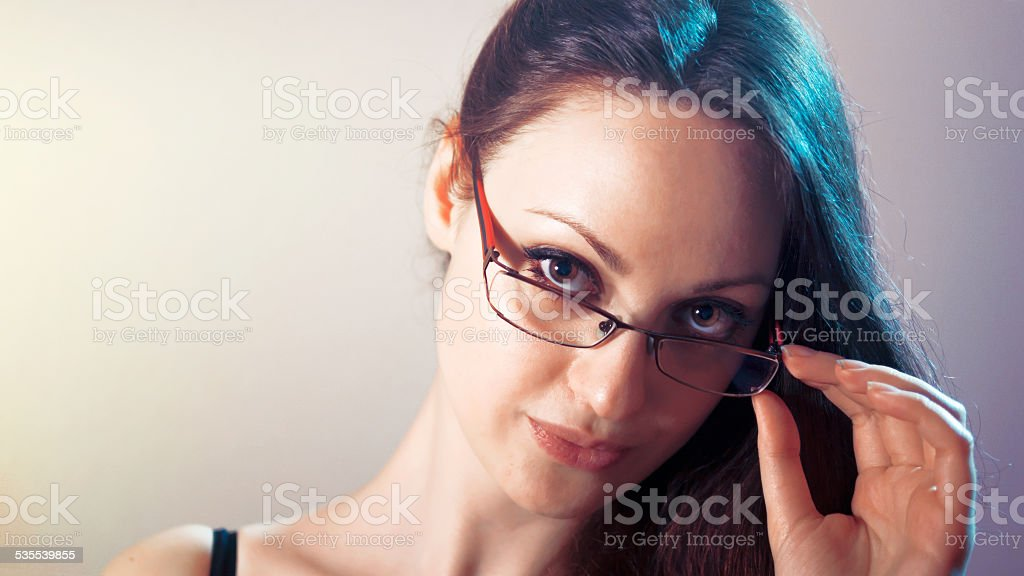 Model for glasses stock photo