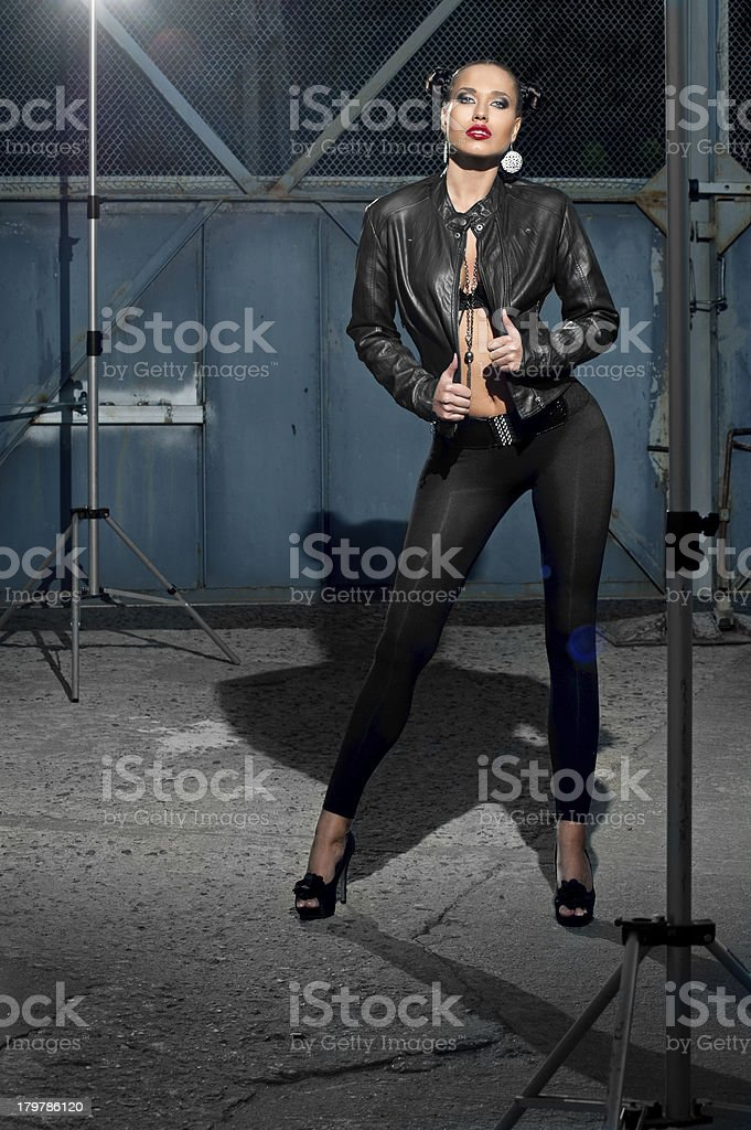 model for photographing behind the scenes royalty-free stock photo