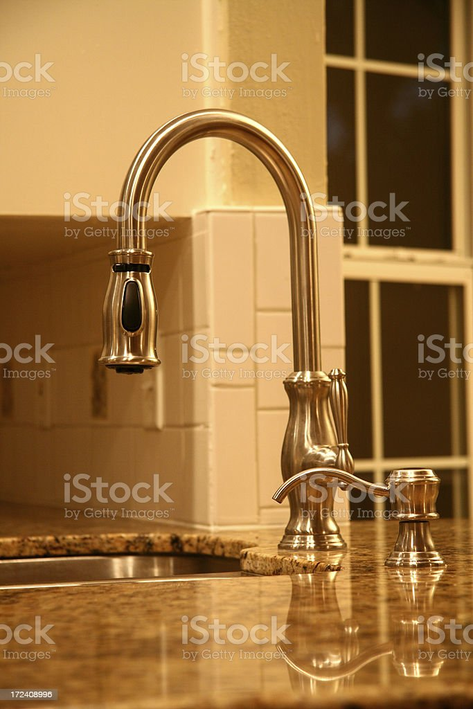 Model Home Kitchen Sink royalty-free stock photo