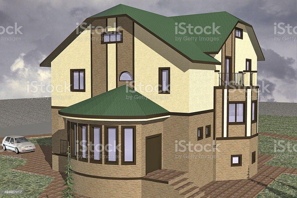 Model Home stock photo