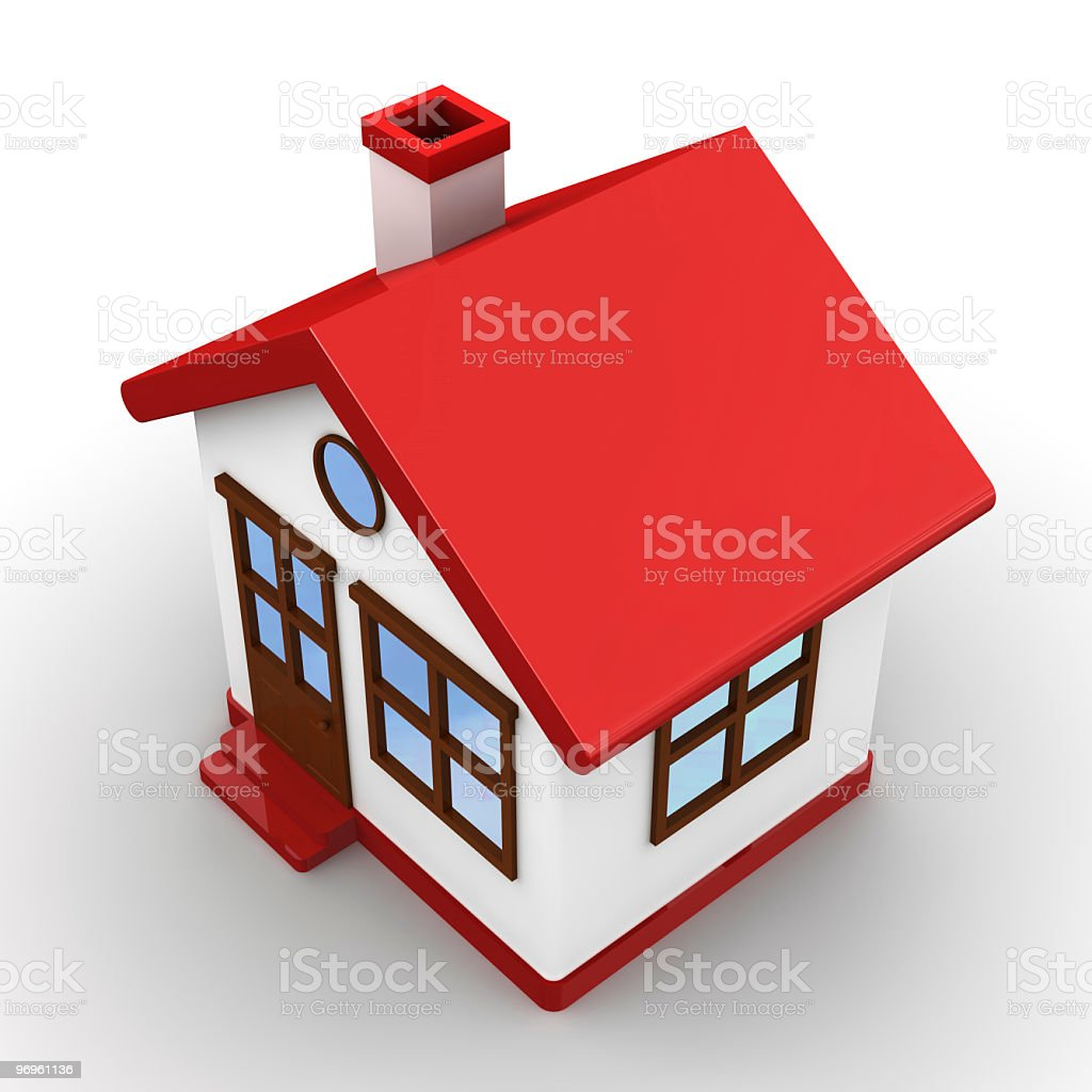 Model Home royalty-free stock photo