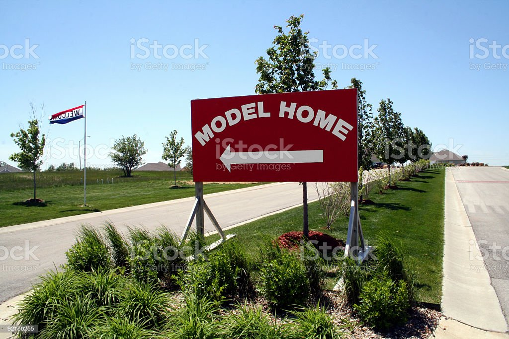Model Home Sign royalty-free stock photo