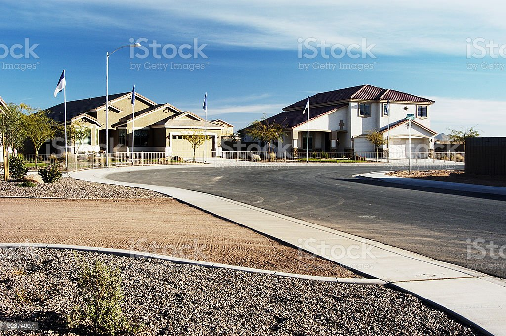 Model Homes on Display royalty-free stock photo