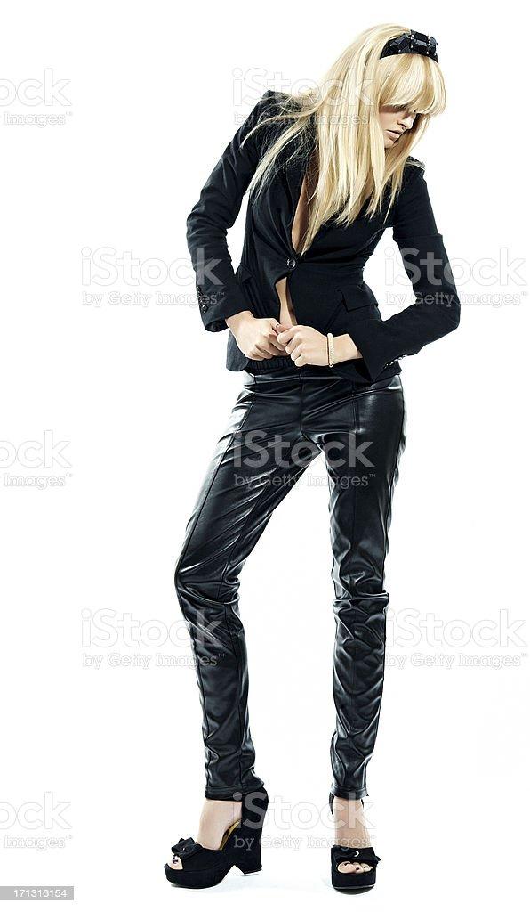 Model In Black stock photo