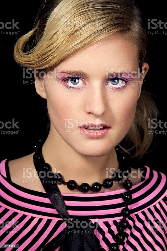 Model In Pink stock photo