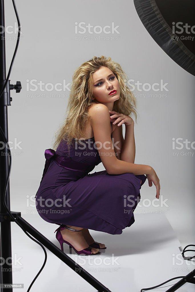 model in studio royalty-free stock photo