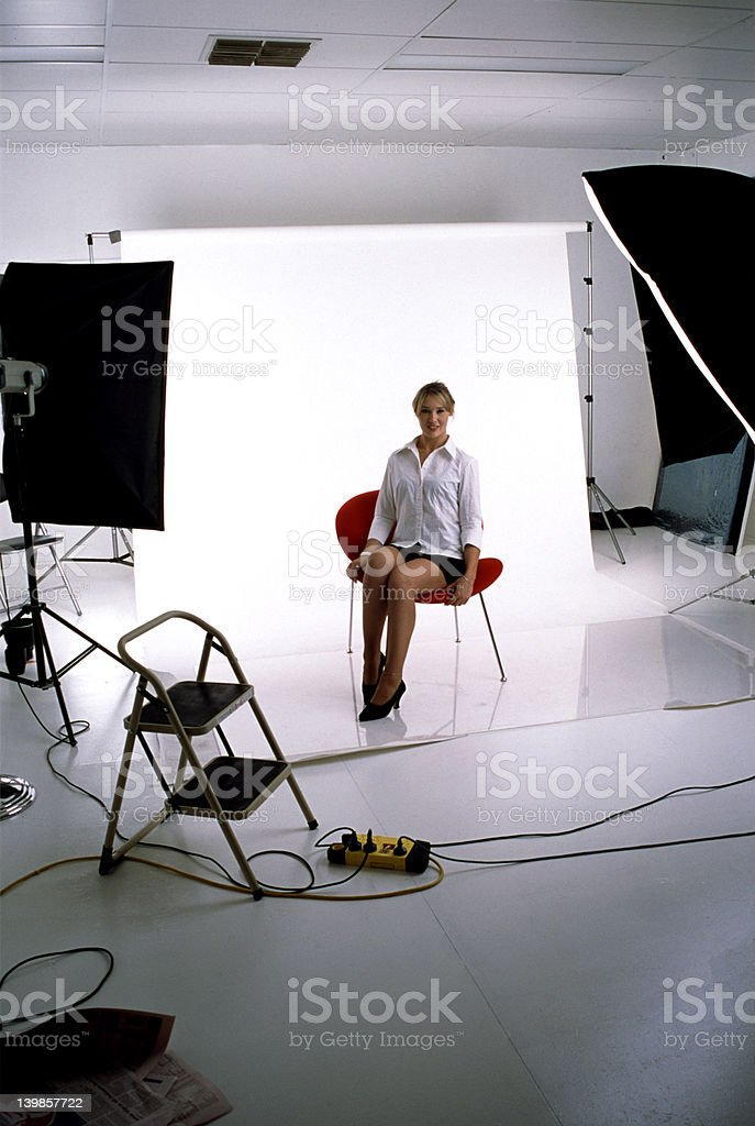 Model in Studio royalty-free stock photo