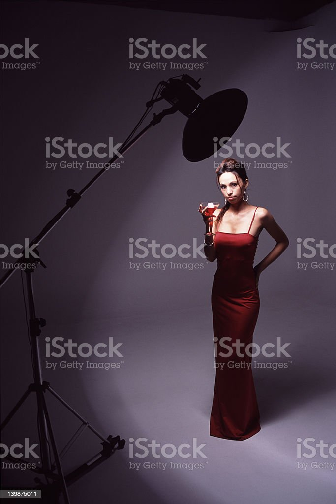 Model in the Studio royalty-free stock photo