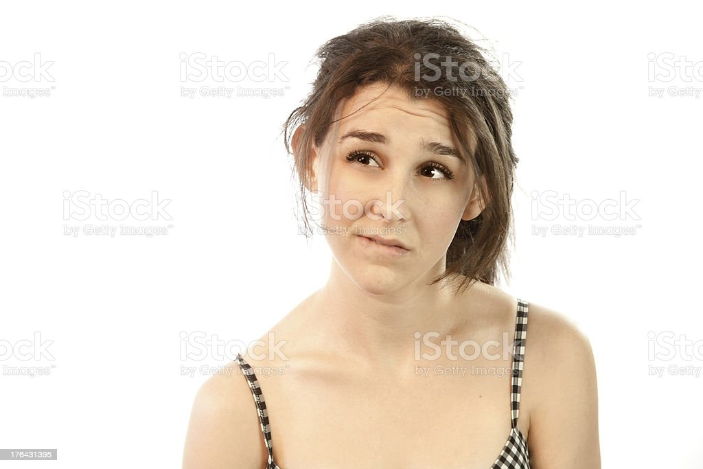 Model In Thought royalty-free stock photo