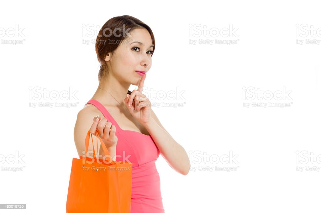 Model isolated with a secret stock photo