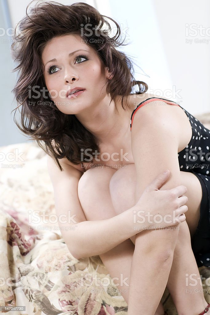 Model Looking Up royalty-free stock photo