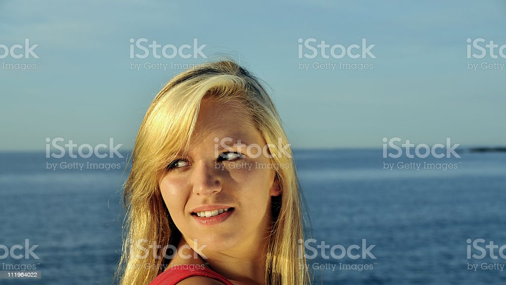 Model Looks Over Her Shoulder royalty-free stock photo