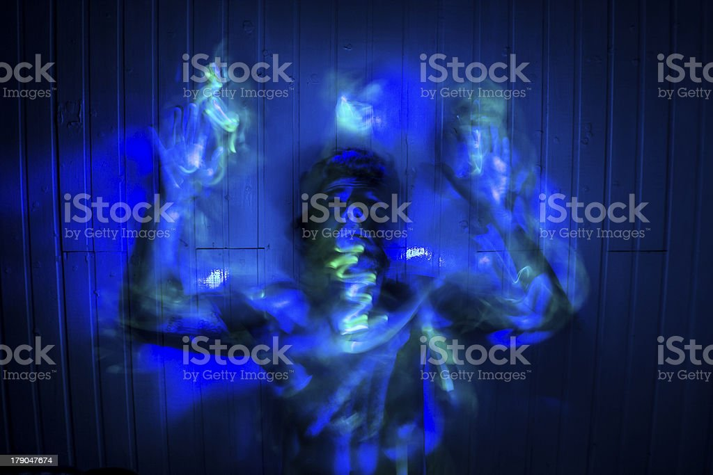 Model made with Creative Light-Painting royalty-free stock photo