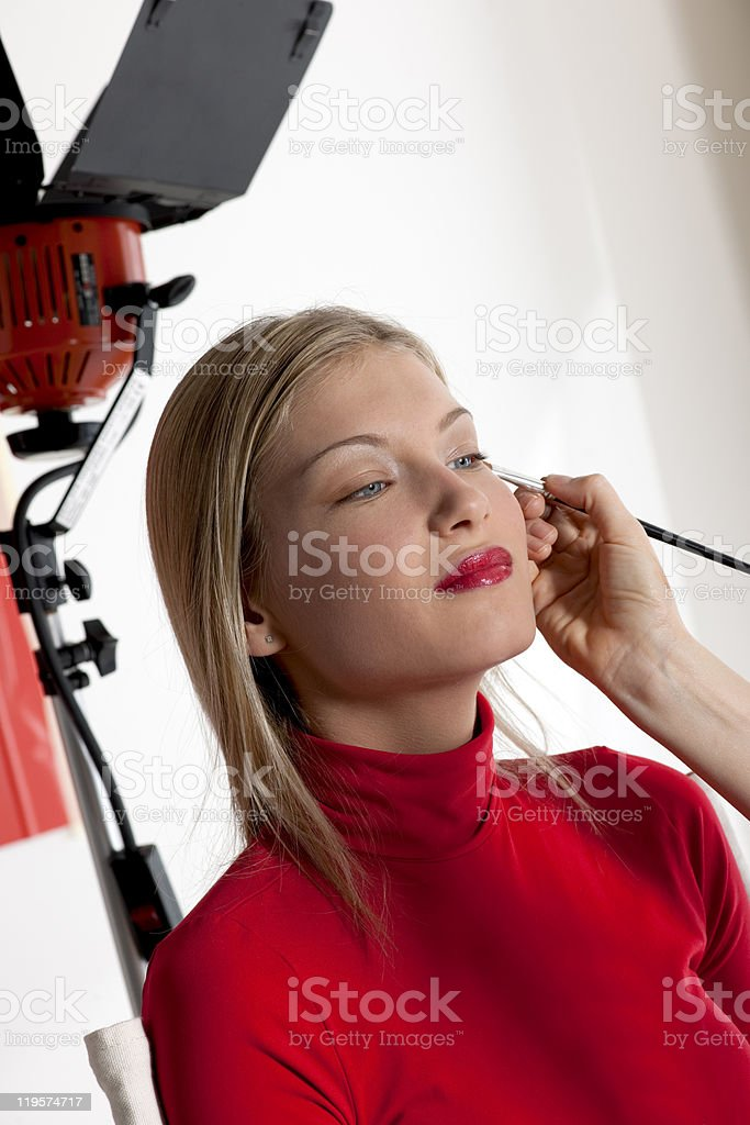 Model make up stock photo