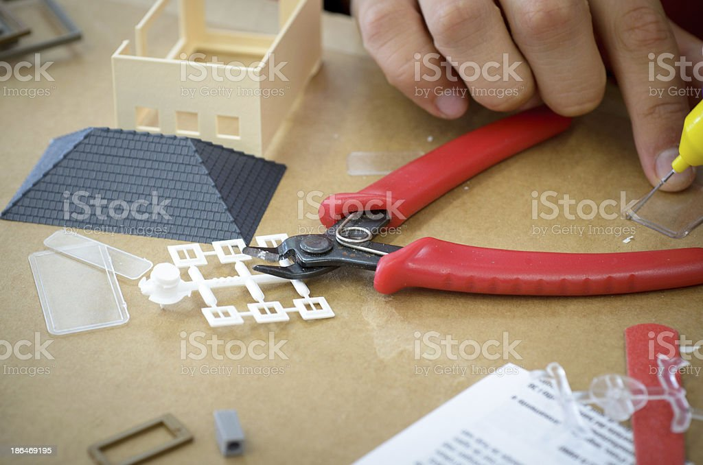 model making stock photo