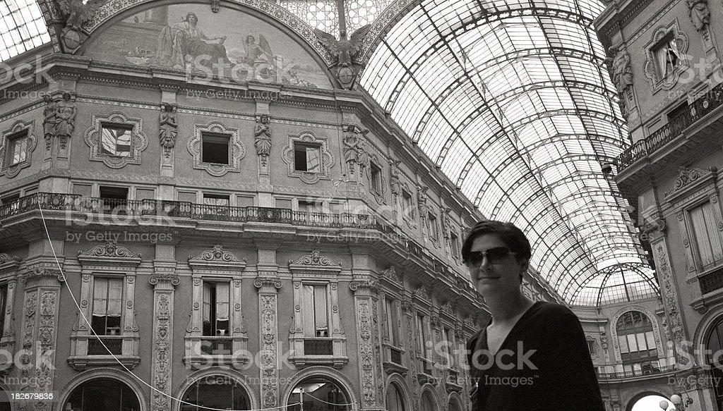Model Milan Fashion Mall Italy royalty-free stock photo