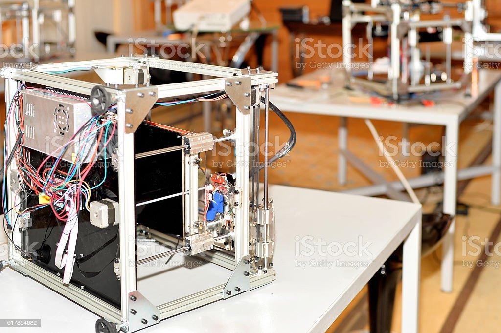 Model of 3D printer stock photo