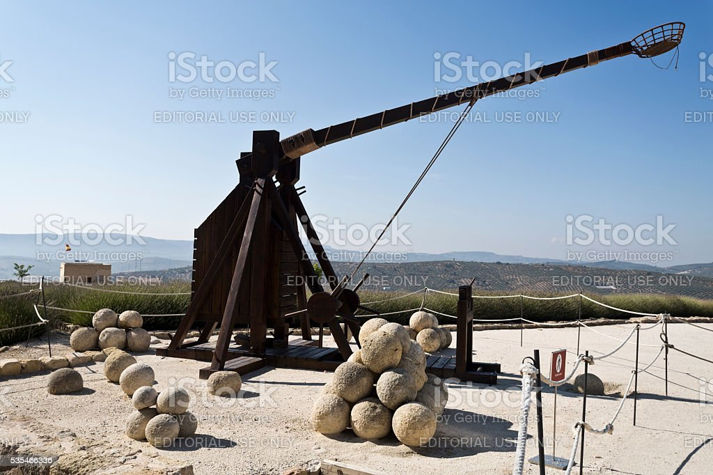 Model of a Catapult stock photo