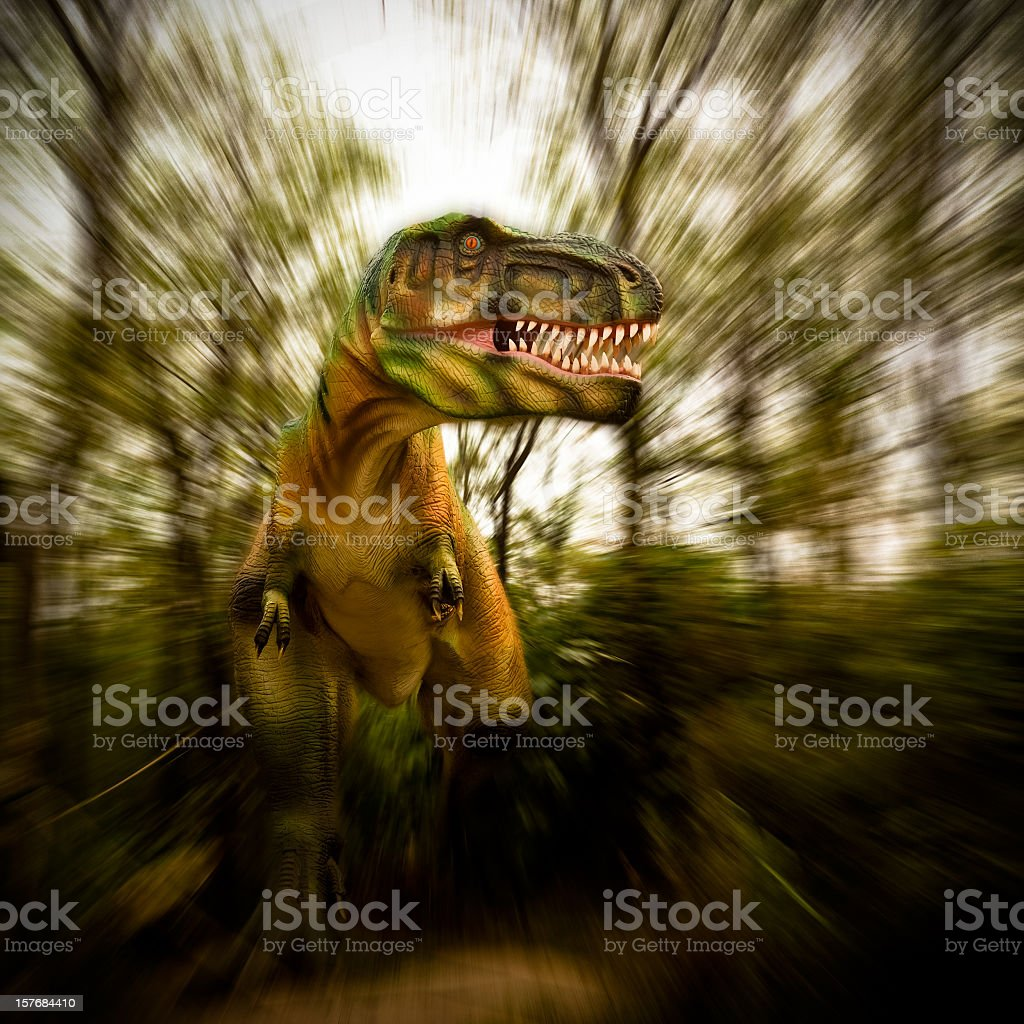 Model of a Dinosaur Park .motion blur. royalty-free stock photo