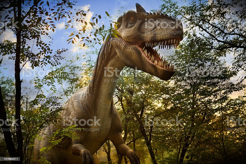 Model of a Dinosaur Park royalty-free stock photo