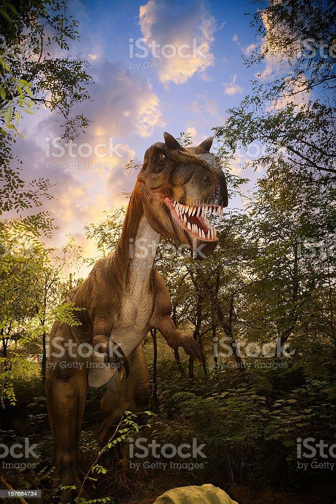 Model of a Dinosaur Park stock photo