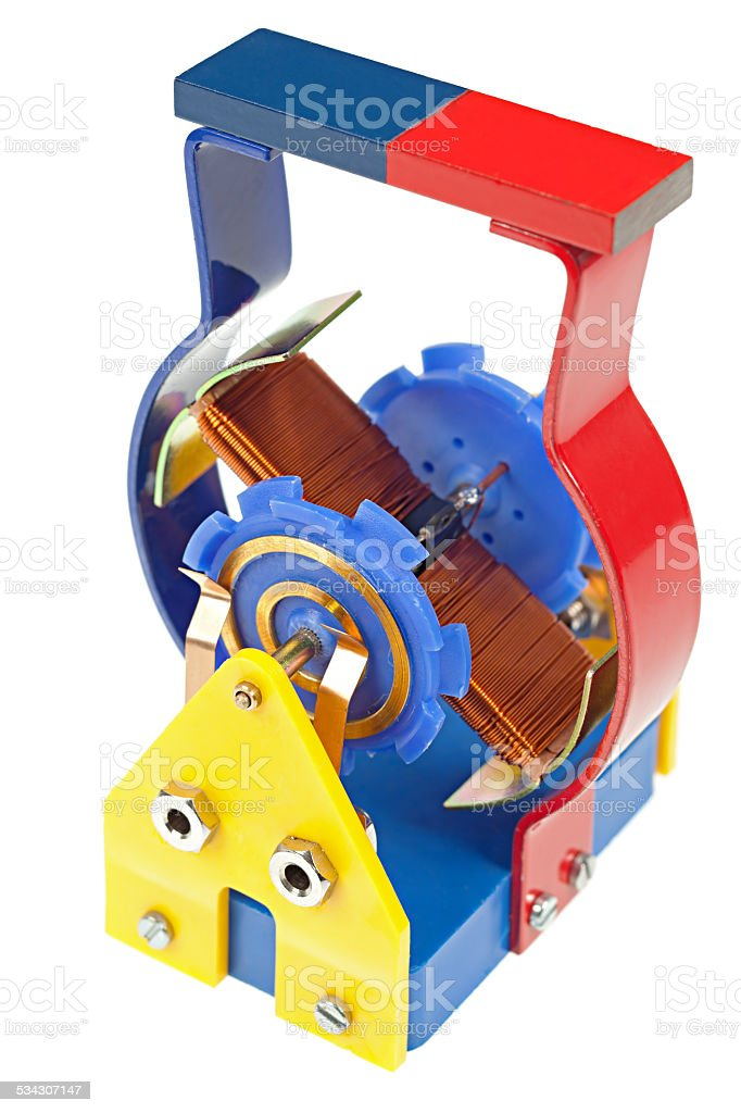 Model of an electric motor stock photo