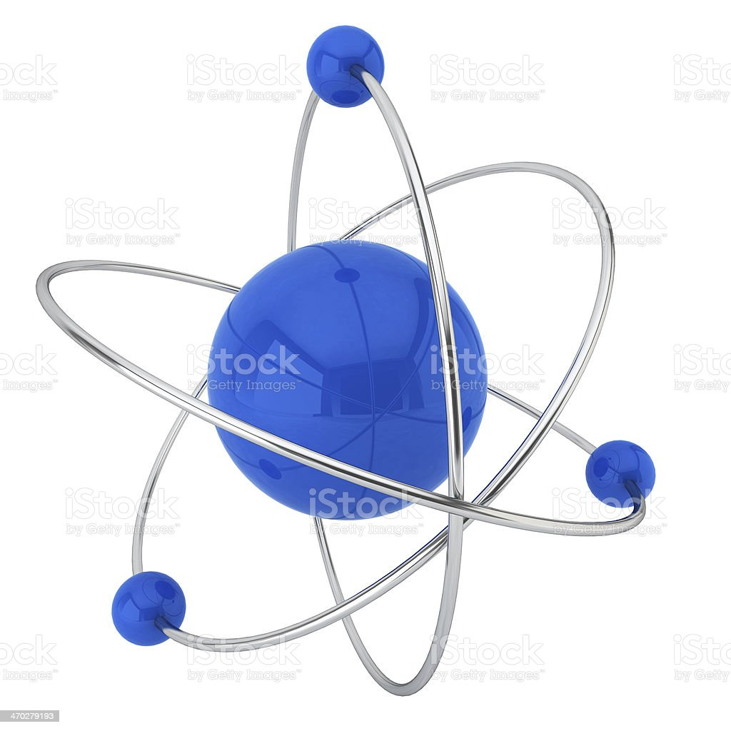 Model of atom royalty-free stock photo